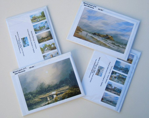 A6 Watercolour Greetings Cards from Graham H Hadlow